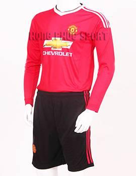Đồ đá banh Manchester United tay dài 2015-2016 sân nhà