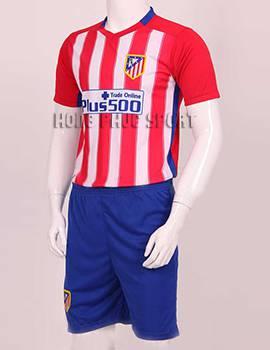 Đồ đá banh atletico madrid 2015-2016 sân nhà sọc đỏ trắng