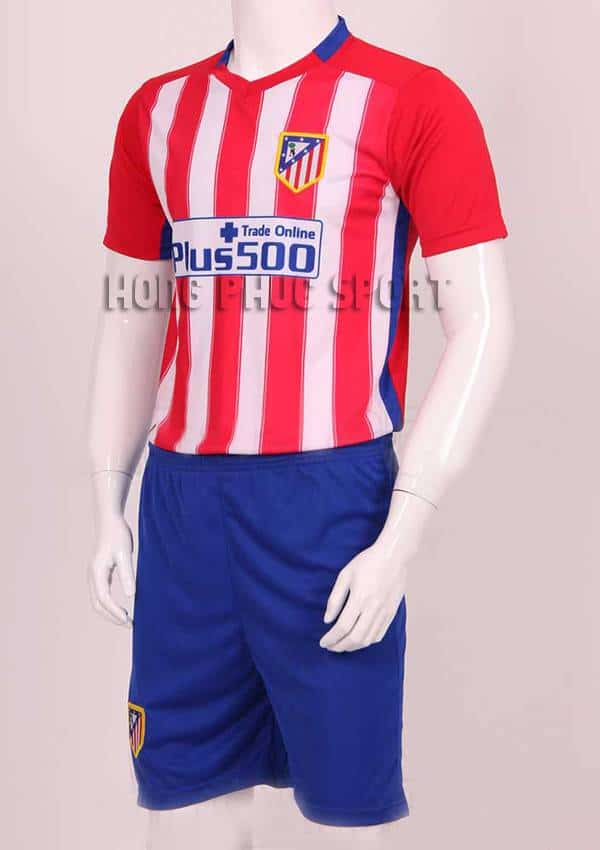 Mẫu áo đá banh atletico madrid 2015-2016 sân nhà sọc đỏ trắng