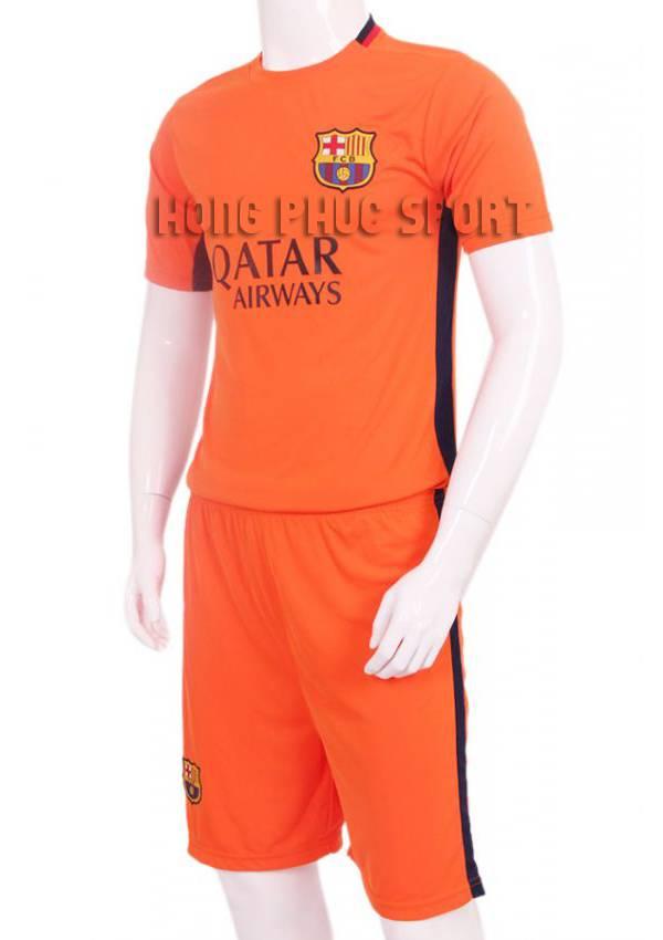 Đồ đá banh barcelona 2015-2016 màu cam