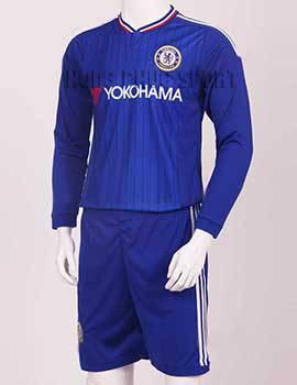 Mẫu áo Chelsea Yokohama 2015-2016 tay dài sân nhà