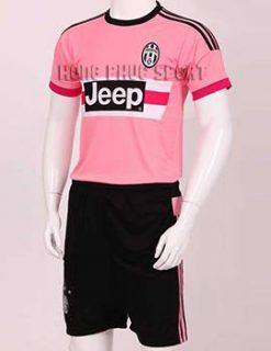 mẫu áo Juventus 2015-2016 sân khách màu hồng