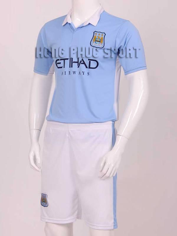 Mẫu áo đá banh Man City  2015-2016 sân nhà