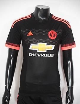 Bộ quần áo đá banh MU 2015-2016 sân khách màu đen mẫu thứ 3