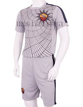 Đồ đá banh áo tập AS Roma 2015-2016 màu xám in nhện