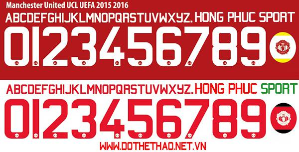 Font Manchester United UCL 2015 2016