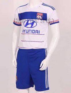 Đồ đá banh Olympique Lyon 2015-2016 sân nhà màu trắng