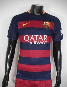 Mẫu áo đá banh Barca 2015-2016 sân nhà Super fake Thái Lan