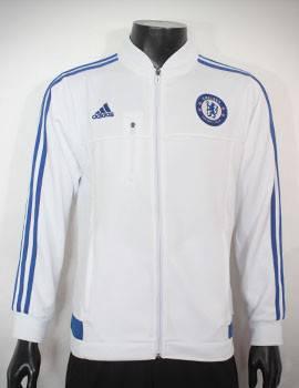 Mẫu áo khoác Chelsea 2015-2016 trắng viền xanh
