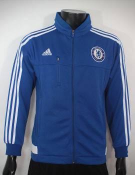 Áo khoác Chelsea 2015-2016 xanh phối trắng