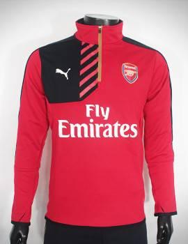 Mẫu áo khoác training Arsenal 2015-2016 đỏ phối đen