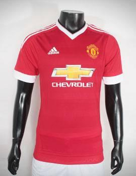 Mẫu áo đá banh MU Adidas Super fake 2015-2016 sân nhà