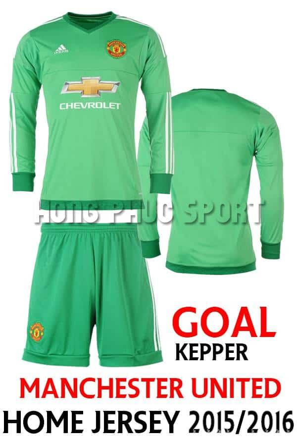 Bộ quần áo thủ môn MU 2015-2016 sân nhà xanh lá