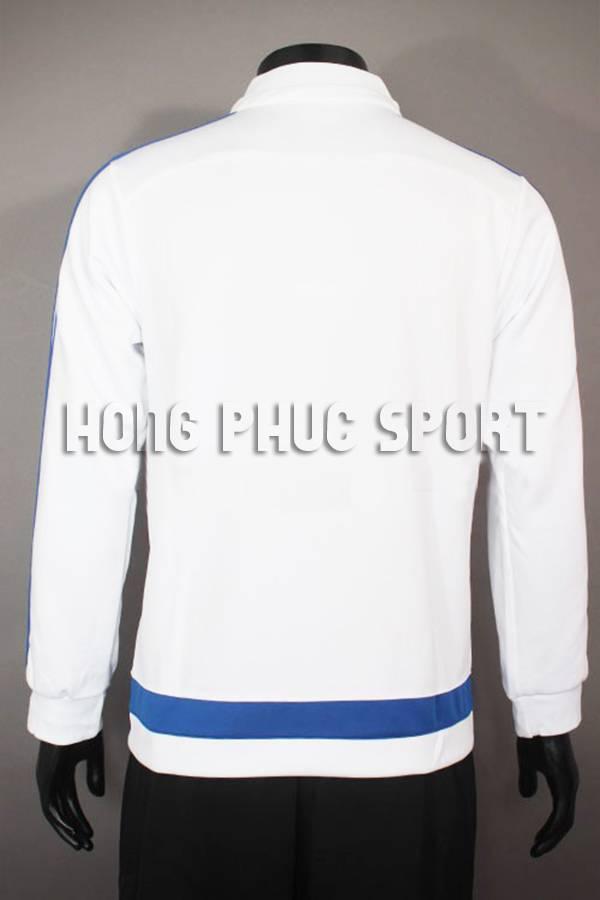 Lưng áo khoác Chelsea 2015-2016 trắng viền xanh