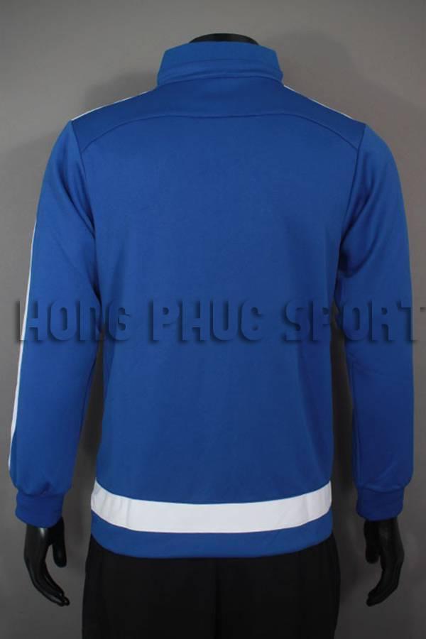 Lưng áo khoác Chelsea 2015-2016 xanh viền trắng