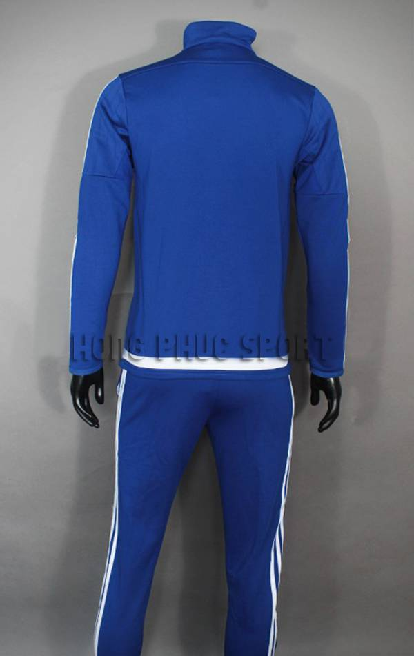 Lưng  áo khoác training Chelsea 2015-2016 trắng viền xanh