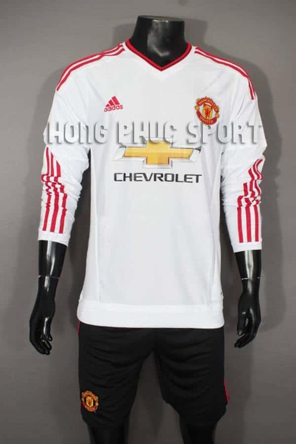 Mẫu áo Manchester United tay dài 2015-2016 sân khách hàng Thái Lan