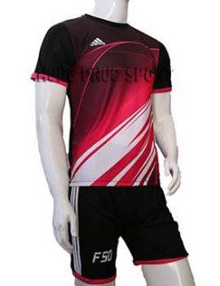 Đồ đá banh áo F50 đỏ phối đen không logo 2015-2016