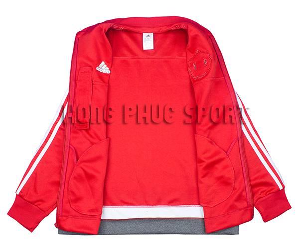 Mẫu áo khoác MU đỏ 2015-2016 Super Fake Thái Lan chính hãng