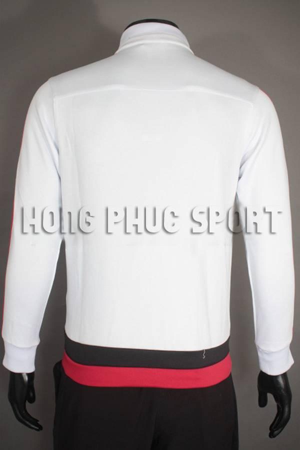 Đồ đá banh sau áo khoác MU trắng 2015-2016 Super Fake Thái Lan