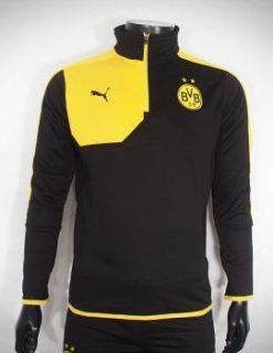 Bộ quần áo khoác Dortmund đen phối vàng 2015-2016