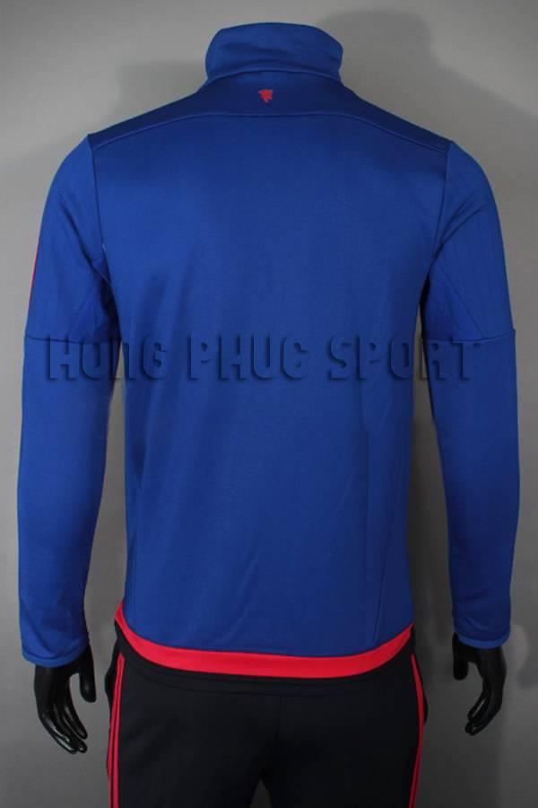 Mẫu quần áo khoác MU xanh 2015-2016 Super Fake Thái Lan