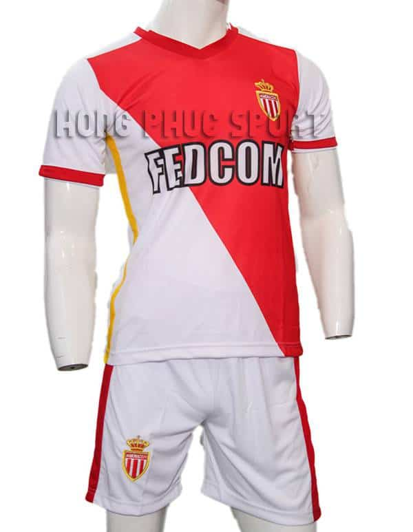 Mẫu áo đá banh AS Monaco 2015-2016 sân nhà đỏ trắng