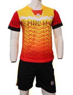 Mẫu áo đá banh áo Kool màu cam không logo 2015-2016
