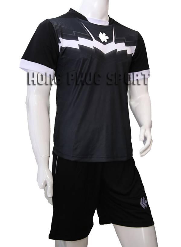 Mẫu quần áo Kool đen phối trắng không logo 2015-2016