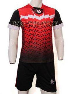 Đồ đá banh áo Kool đỏ đen không logo 2015-2016