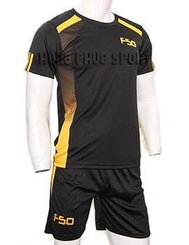 Đồ đá banh áo F50 đen phối vàng không logo 2015-2016