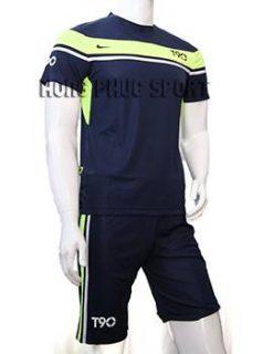 Đồ đá banh áo T90 tím than phối xanh chuối 2015-2016