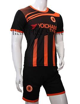 Bộ quần áo training Chelsea 2015-2016 đen phối cam