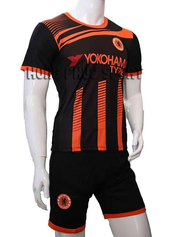 Mẫu quần áo training Chelsea 2015-2016 đen phối cam