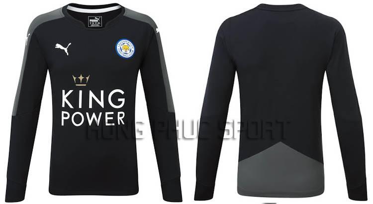 Mẫu áo thủ môn Leicester City 2015-2016 màu đen