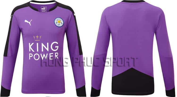 Mẫu áo thủ môn Leicester City 2015-2016 sân khách màu tím