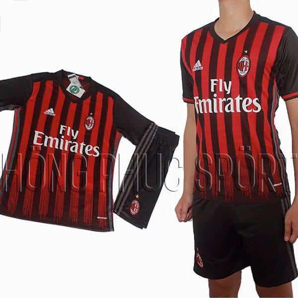Bộ quần áo AC Milan 2016 2017 sân nhà