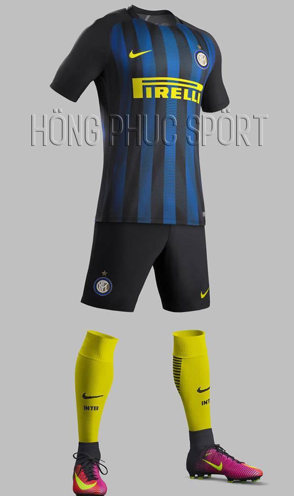 Bộ quần áo Inter Milan 2016-2017 sân nhà