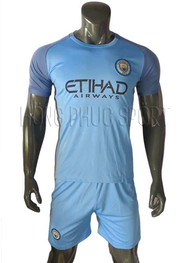 Bộ quần áo Man City 2016 2017 sân nhà xanh biển
