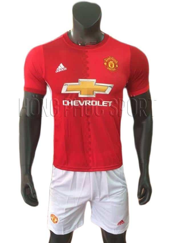 Bộ quần áo Manchester United 2016 2017 sân nhà quần trắng