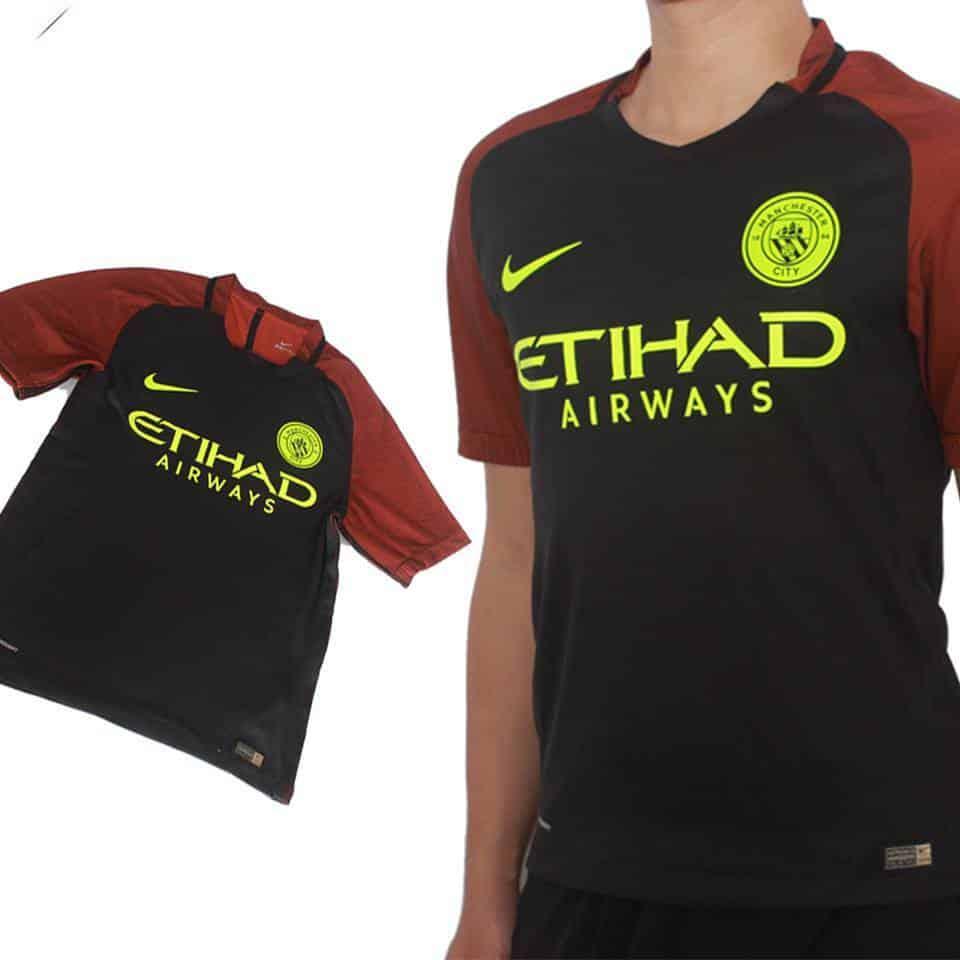 Mẫu áo đấu Manchester City 2016 2017 sân khách mẫu thứ 3