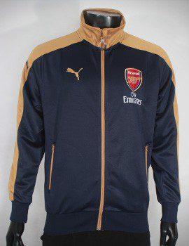 Mẫu áo khoác Arsenal 2015-2016 tím than phối vàng đồng