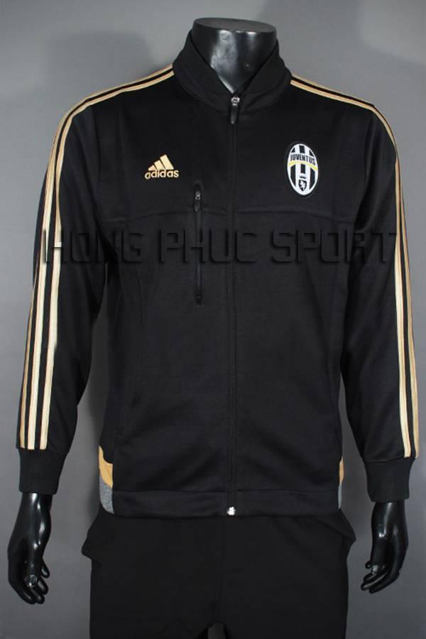 Mẫu áo khoác Juventus 2015-2016 màu đen phối vàng