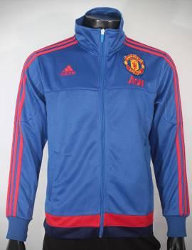 Mẫu áo khoác MU xanh 2015-2016 Super Fake Thái Lan
