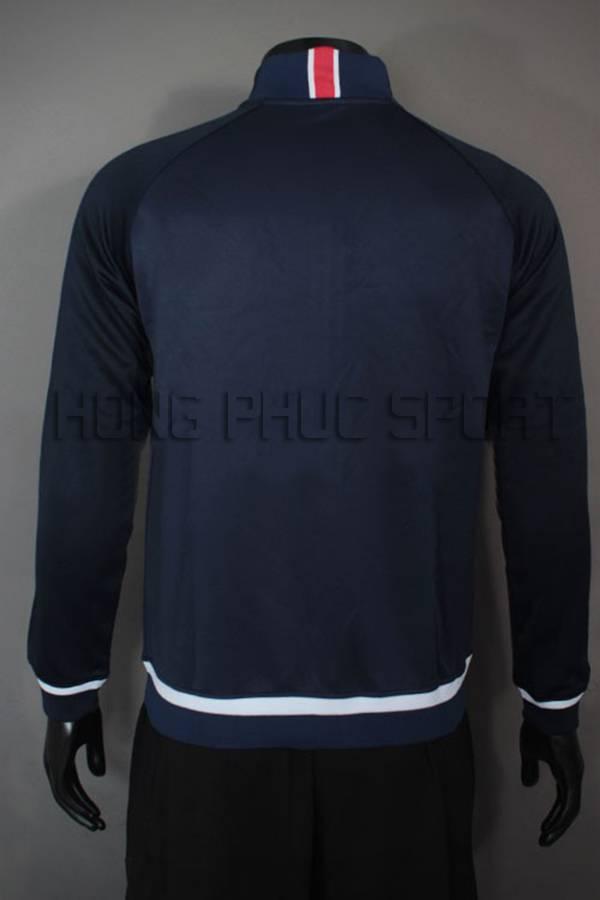 Mặt sau áo khoác PSG 2015-2016 xanh tím than