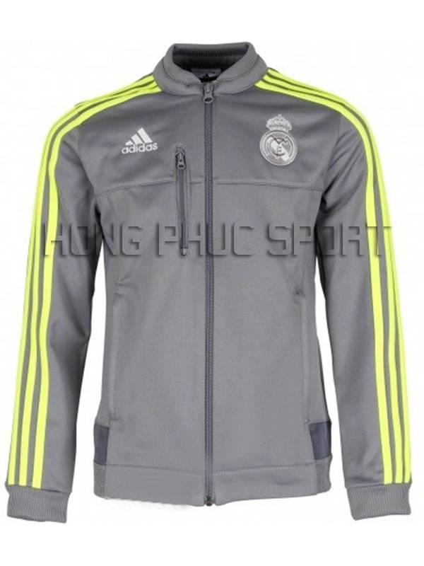 Mấu áo khoác Real 2015-2016 màu xám super fake Thái Lan