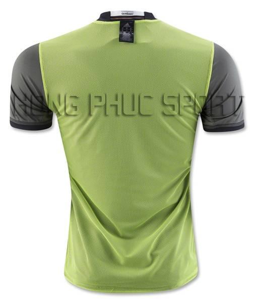 Mặt sau áo đá banh Traiing Đức Euro 2016 xanh lá cây