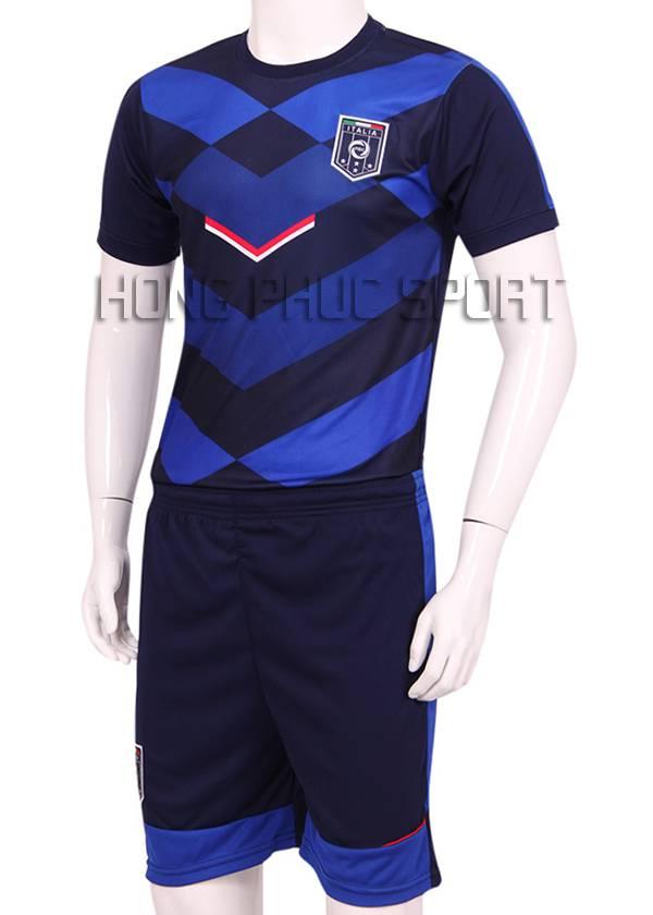 Mẫu áo đá banh Training tuyển Ý Euro 2016 xanh đen