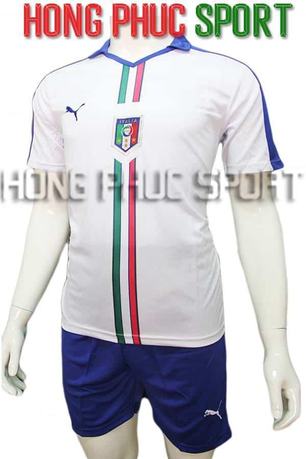 Bộ quần áo tuyển Ý Euro 2016 2017 sân khách màu trắng