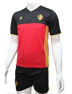 Mẫu quần áo tuyển Bỉ Euro 2016 2017 sân nhà màu đỏ đen
